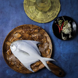 White Pomfret (Paplet) - Whole
